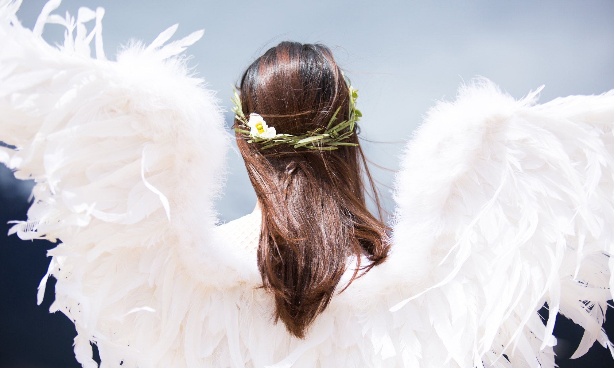 White Angel in Wings-Premonition-faith-magic