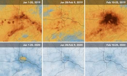 China's pollution after Coronavirus